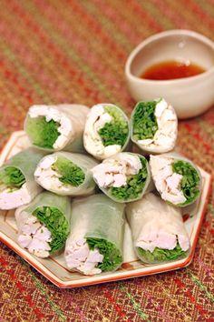 水菜と鶏胸肉の生春巻き | 美肌レシピ