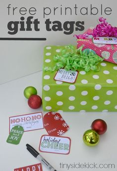 Add some fun color to your Christmas with these free printable Christmas gift tags!