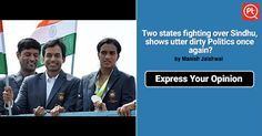 P V Sindhu - Pride of #India or Trophy for two states? ShareYourOpinion Posticker sports women olympics athletics RioOlympics