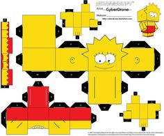 PaperToy_The Simpsons - Lisa Simpson
