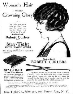 The Bobby Pin Blog talks about the Marcel Wave showing this cool old ad that is so inspiring when working!
