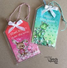 Butterfly Reflections, Ink.: Baby Tags featuring the We R Memory Keepers Fuse Tool!