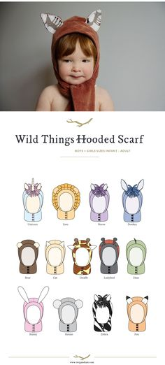 The awesome Wild Things Hooded Scarf from Twig and Tale.