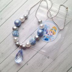 8 Princess Cinderella Necklace Party Favors by MichelleAndCompany