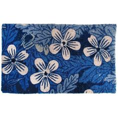 Blue Blossom Eco Coir Doormat by Esschert Design. $28.49. Great for all outdoor entrances. Colorful Blue Blossom Design. Made of earth friendly coconut coir. Measures: 29.5 x 1.2 x 17.7 inches. Welcome your friends with our earth friendly rug at your entrance! A splash of blues and adorable flowers. A great colorful welcome. Made of coconut coir.. Save 15% Off!