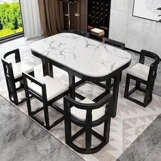 Space Saving Dining Table, Dinning Table Design, Unique Dining Tables, Small Kitchen Tables, Furniture For Small Spaces, Home Decor Furniture, Dining Furniture, Home Decor Bedroom, Furniture Design