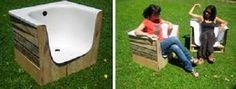 Sillones con bañera reciclada