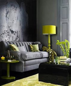 Color Combo Crush: Gray & Green Decorating Ideas