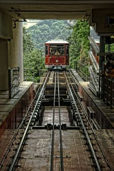 Hong Kong Peak Tram, have travelled on this to Victoria Peak. Bit of a hairy ride but loved it!! Great views of HK bay too.