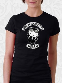 Sons of Anarchy Hello Kitty T shirt