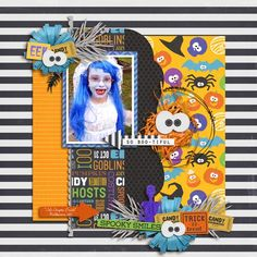 AWESOME! Great #halloween #digiscrap page by @Tasha | Cute Spooks Kit from peppermintcreative.com