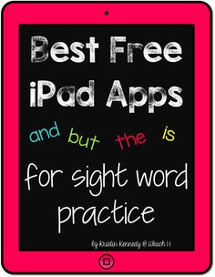 Best FREE iPad apps for sight word practice and other working with words activities