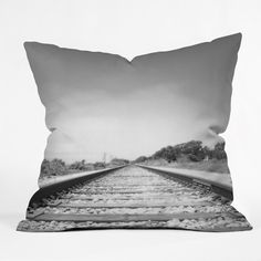 Bree Madden Down The Tracks Throw Pillow   DENY Designs Home Accessories