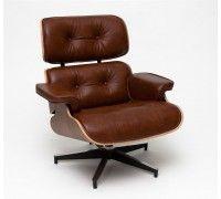 Kreslo Vip inšpirované Lounge chair hnedá koža Charles Eames, Lounges, Ikea, Chair, Modern, Interior, House, Furniture, Design