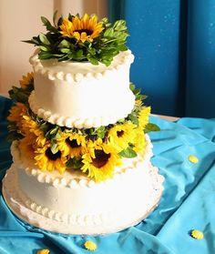 amazing sunflower wedding cakes