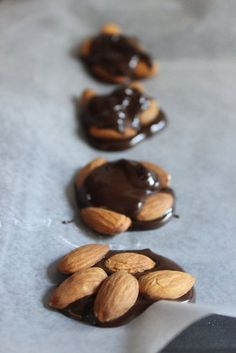 dark chocolate with whole almonds and coconut. yum!