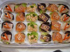 Foto Kalte Platten: Canapes mit Fisch