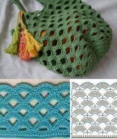 Para copiar: 20 Modelos de bolsa sacola de crochê – Crochet and Knitting Patterns – The Best Ideas Crochet Diy, Crochet Tote, Crochet Handbags, Crochet Purses, Crochet Stitches, Knitting Projects, Crochet Projects, Knitting Patterns, Crochet Patterns