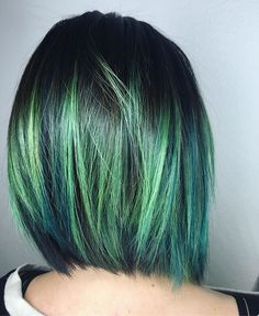 @julie_singley85 new lime green and blue hair used @pulpriothair aquatic and lemon and @brazilianbondbuilder in every formula