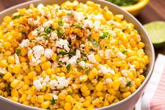Mexican Corn Salad | 4S | 1C corn kernels, 1/2c mayo, 1/4c cotija cheese (or parm), 2 limes juiced, 2T cilantro, 1T chili powder, salt | OR 1 bag corn, 1c Mexican Table Cream, 2 chipotle peppers in adobo sauce, finely chopped, 1/2c queso fresco-crumbled 1/2c cilantro, salt to taste