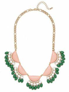 Peach Fiesta Fringe Collar