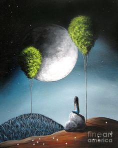 Kai Fine Art is an art website, shows painting and illustration works all over the world. Art And Illustration, Art Fantaisiste, Creation Photo, Beautiful Moon, Fine Art, Moon Art, Whimsical Art, Surreal Art, Oeuvre D'art