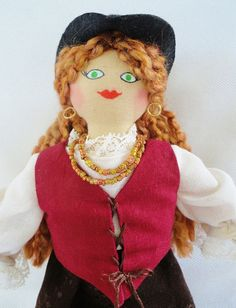Pirate Girl Doll  by Joelle's Dolls by JoellesDolls on Etsy, $35.00
