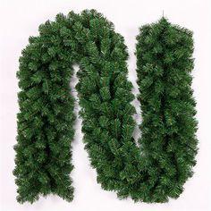 2.7m Green Cane Christmas Tree Garland Garden Decorative Rattan – Kiser Variety Shop