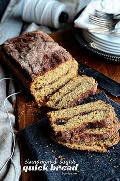 This looks like the perfect breakfast bread @tidymom Homemade Cinnamon and Sugar bread recipe at TidyMom.net