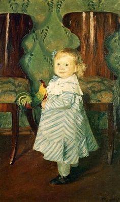 Boris Kustodiev (1878 – 1927, Russian). [The child's facial expression kills me!]