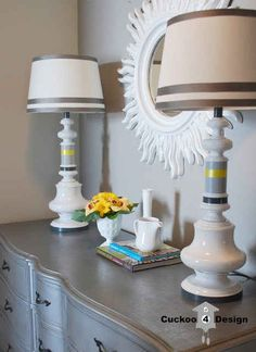 Paint your ugly thrift store lamps.