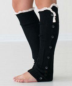 Look at this #zulilyfind! Black Betty Leg Warmers by PeekABootSocks #zulilyfinds