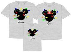 Disney Shirt DISNEY CHRISTMAS LIGHTS Vacation by TheMouseBoutique