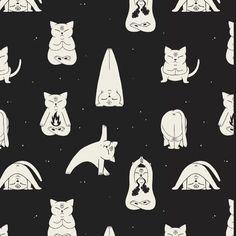 "186 Me gusta, 8 comentarios - Evanfelino (@evanfelino) en Instagram: ""Yoga en el espacio 🖖 #cat #yoga #illustration #pattern #evanfelino"""