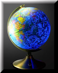 Celestial Globe: Globe By Day, Constellations By Night <-- WHAAAA. Where can I buy this majestic device?!