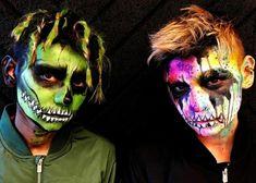 Twin Brothers, Happy Halloween, Halloween Face Makeup, Mac, Stars, Boys, Caribbean, Baby Boys, Sons