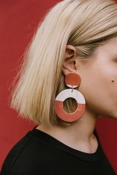 XL Circle Pinto Earrings