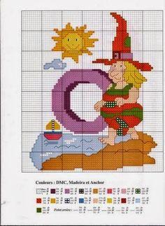 Oh my Alfabetos!: Alfabeto de brujas para punto de cruz.