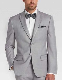 Online Mens SuitsProduct# Men's 2 Buttons Slim Fit Tuxedo Trimmed Lapel Light Black and Silver Suit Gray Suit , Zoot, Wedding Suits for every occassion Slim Fit Tuxedo, Slim Fit Suits, Tuxedo Suit, Tuxedo For Men, Groom Tuxedo, Grey Tuxedo Wedding, Wedding Suits, Wedding Attire, Terno Slim