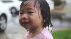 Baby Girl Experiences Rain For The First Time