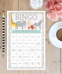 Baby Shower Games - Baby Shower Bingo - Baby Shower Ideas by CreativeUnionDesign.com