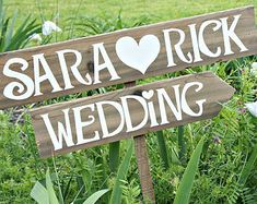 Arrow Wedding Sign Wooden Arrow Sign Rustic by CountryWeddingSigns