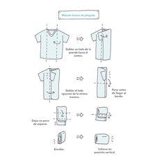 Cómo-doblar-camisetas-Marie Kondo
