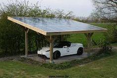 Afbeeldingsresultaat voor houten carport met zonnepanelen