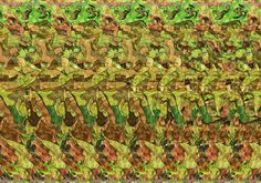 Stereogram by 3Dimka: Get Out!. Tags: soldiers, jeep, rhino, war, peace, hidden 3D picture (SIRDS)