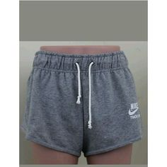 New Nike Track and Field Gray Heather sweat Shorts Women's Size XL... ❤ liked on Polyvore