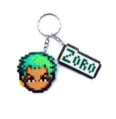 Zoro - One Piece keyring hama mini beads by Regalopia Freak Creations - www.etsy.com/Shop/FreakCreations