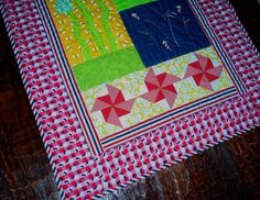 Sweet Summer Dreams Tactile Lap Quilt  Sized for Chair Use