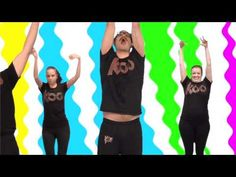 I think we might have to make the dinosaur stomp a daily or every other day dance! I was right in there with the kids and we all LOVED this one! Noodle Koo Koo Kanga Roo - Wiggle It: House Party Dance-A-Long Workout