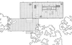 mies van der rohe farnsworth house plan - Google Search